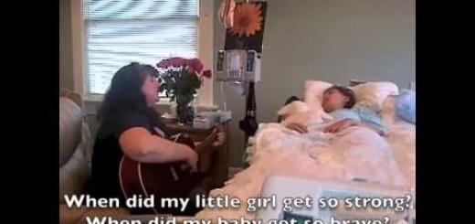Mãe canta para filha poucas horas antes desta morrer