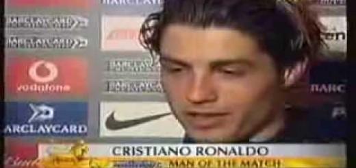 A primeira flash interview do Cristiano Ronaldo em inglês, a comédia!