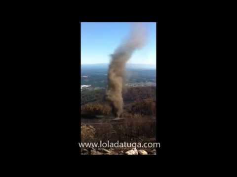 Tornado de cinzas no Caramulo