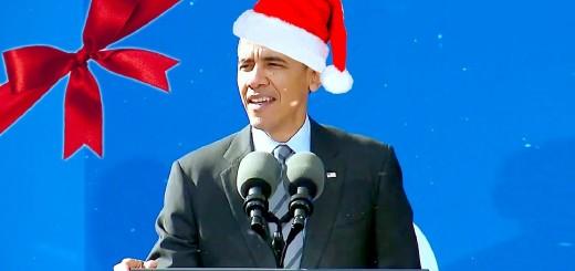 Barak Obama canta música de Natal