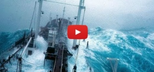 6 navios enfrentam grandes tempestades em alto mar
