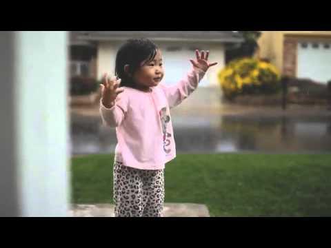 A primeira vez que Kayden viu chuva