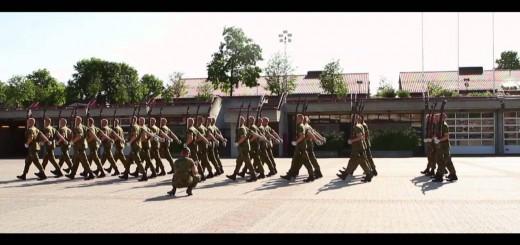 Os militares na Noruega é assim que marcham
