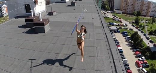 Drone encontra vizinha a fazer topless