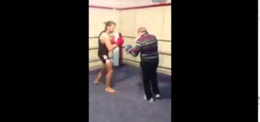 homem de 70 anos dá cabo de um jovem pugilista
