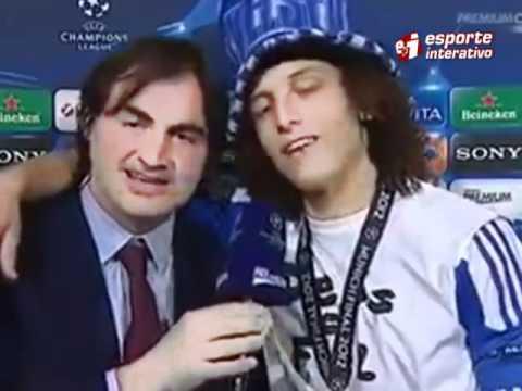 David Luiz bebado