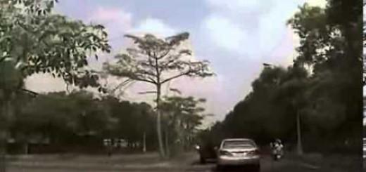 Acidente de carro assustador