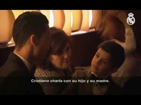 Filho de Cristiano Ronaldo cumprimenta Lionel Messi