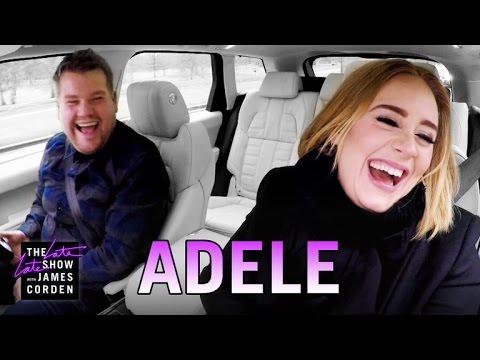Adele faz karaoke no carro com James Corden