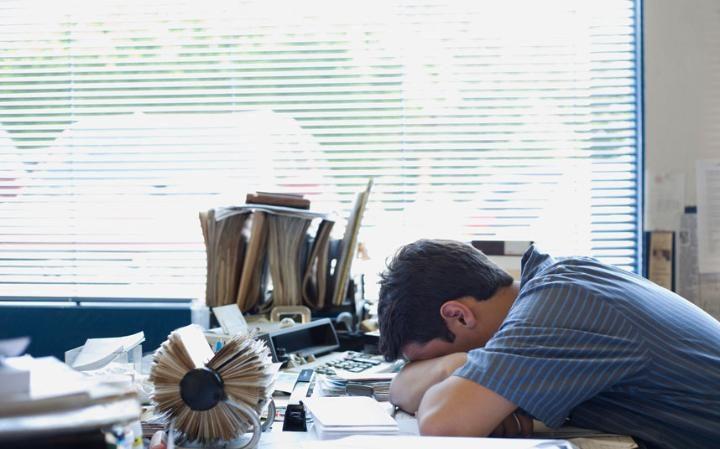 cansaço na secretaria