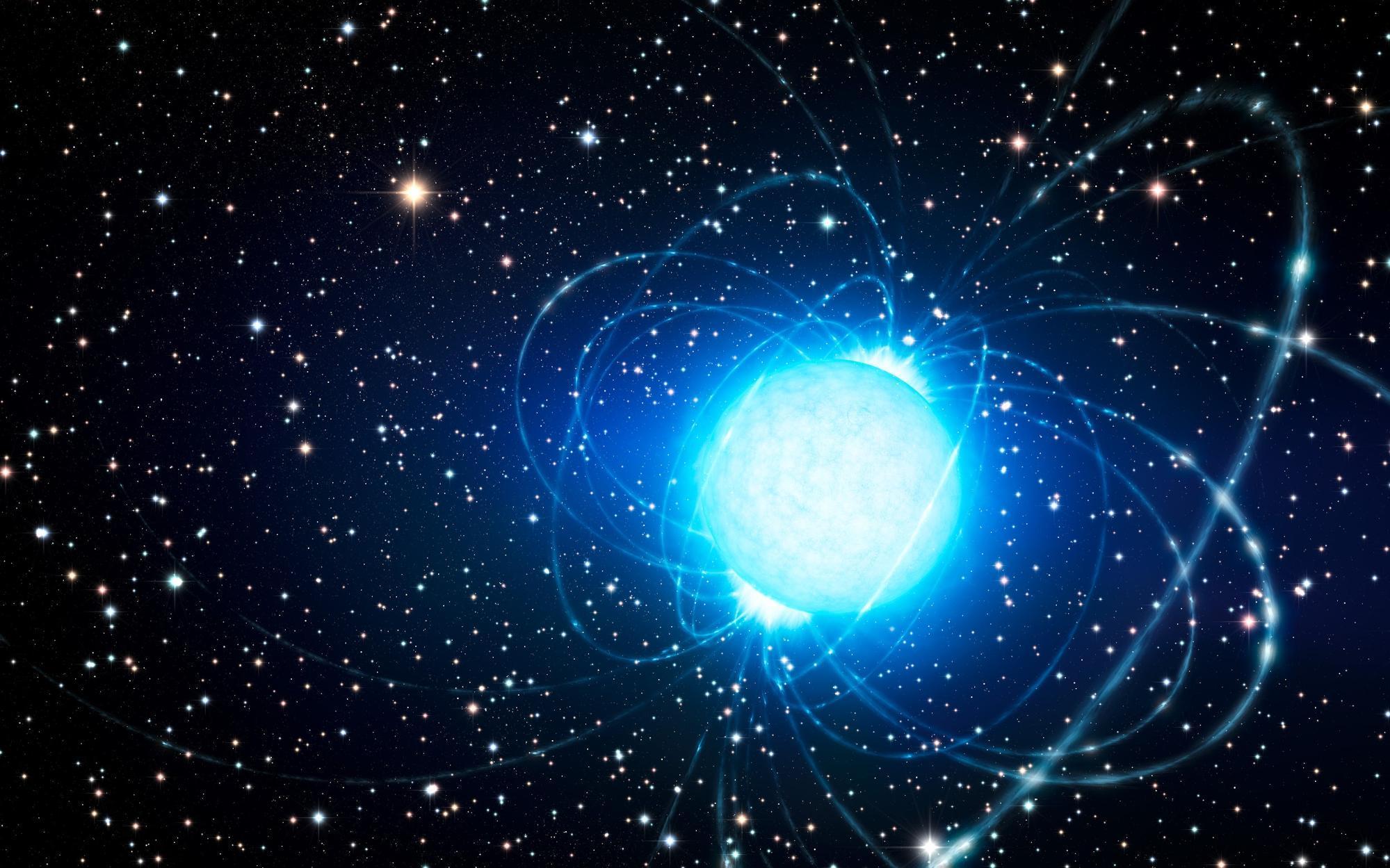 Outra possível explicação já apresentada é que as ondas são geradas por uma magnetar – estrela de neutrões com um campo magnético poderoso