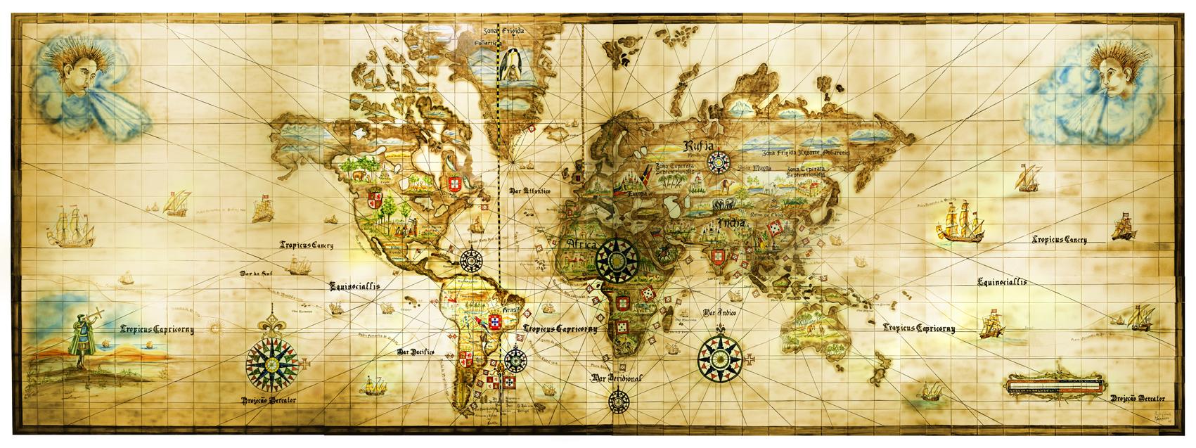 Mapa dos descobrimentos