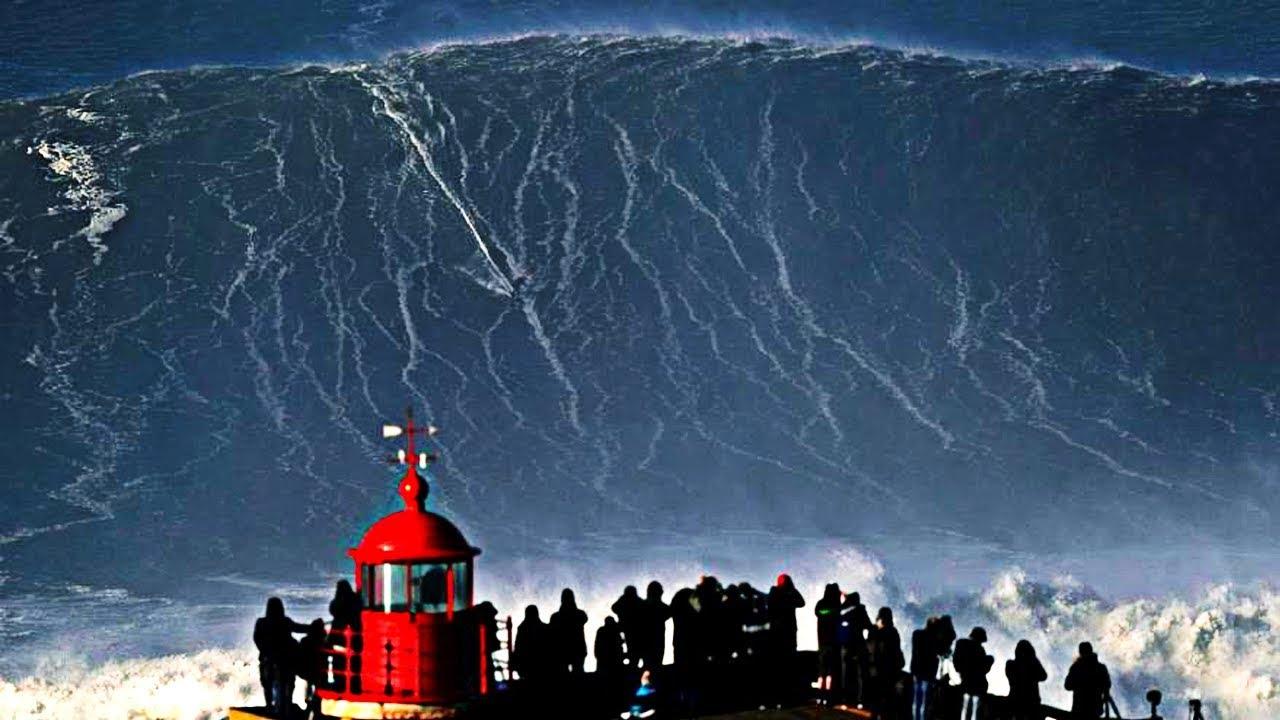 Top 10 ondas gigantes em vídeo
