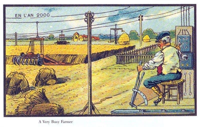 Agricultura - A vida no ano 2000 imaginada cem anos antes
