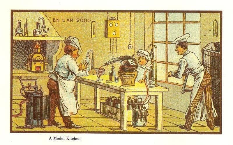 Cozinha - A vida no ano 2000 imaginada cem anos antes
